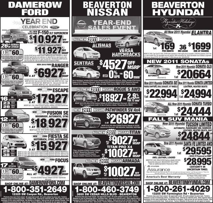 Beaverton Hyundai | Oregon New Car Ads